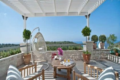 Paxos deck overlooking the sea