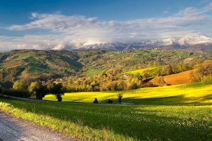 Valley in Umbria, Italy