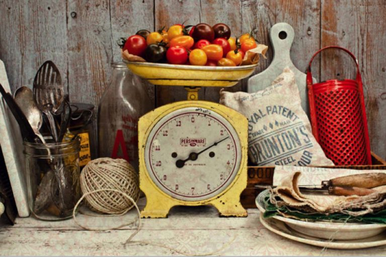 Weighing Scales with Tomatoes