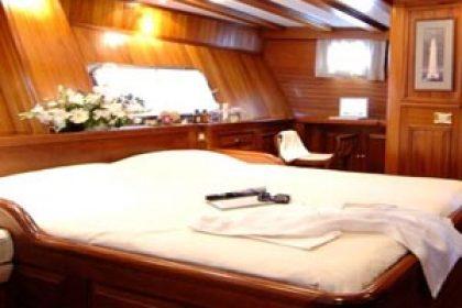 Cabin inside boat