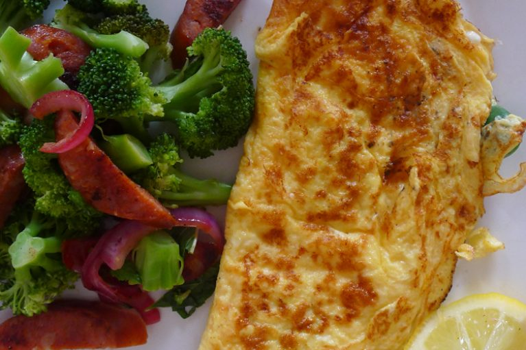 Spanish Tortilla with salad