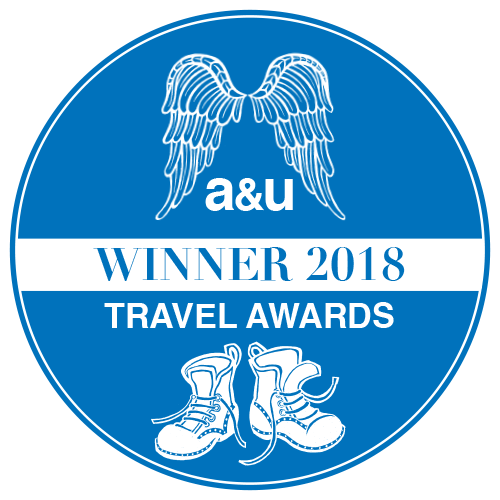A&U Travel Award Winner 2018